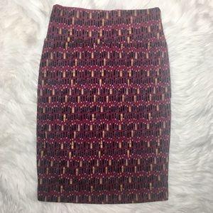 LuLaRoe Lipstick Print Cassie Skirt